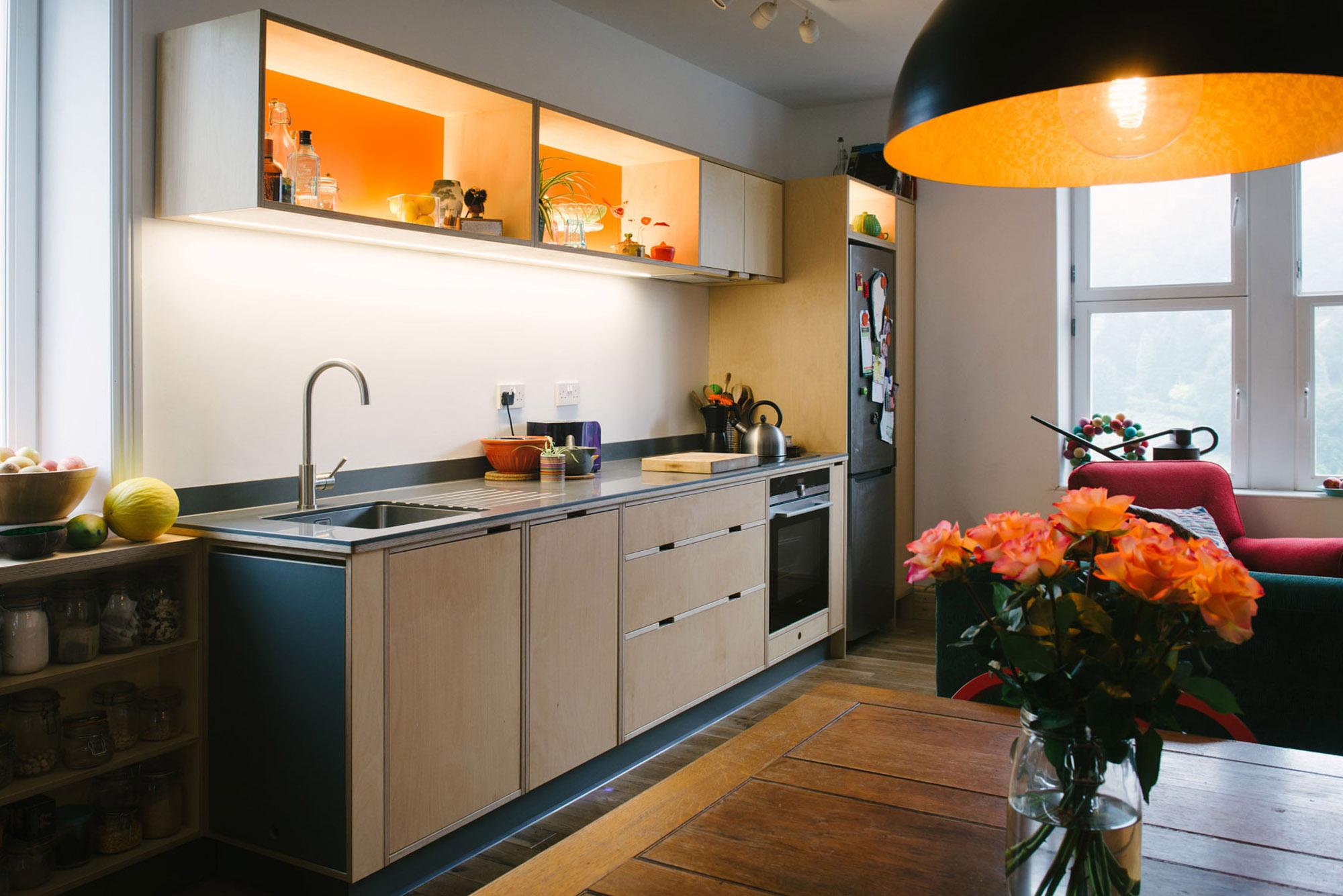 Birch ply kitchens UK manufactured