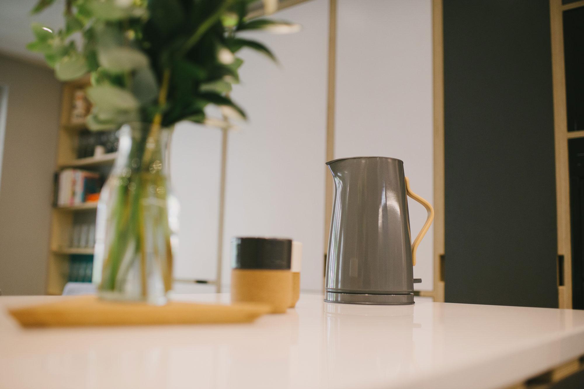 Grey Stelton Emma kettle and vase