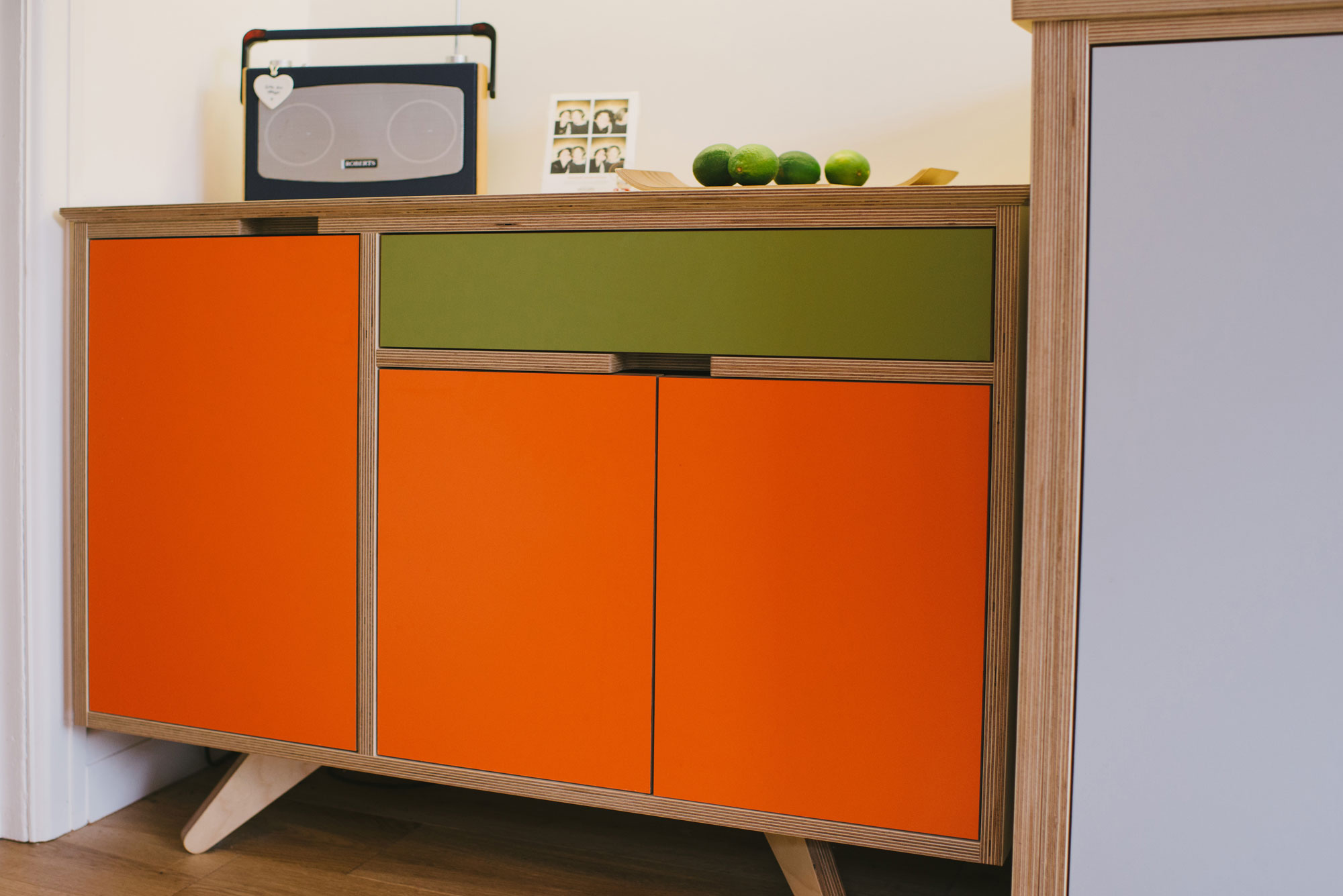 Orange Sideboard