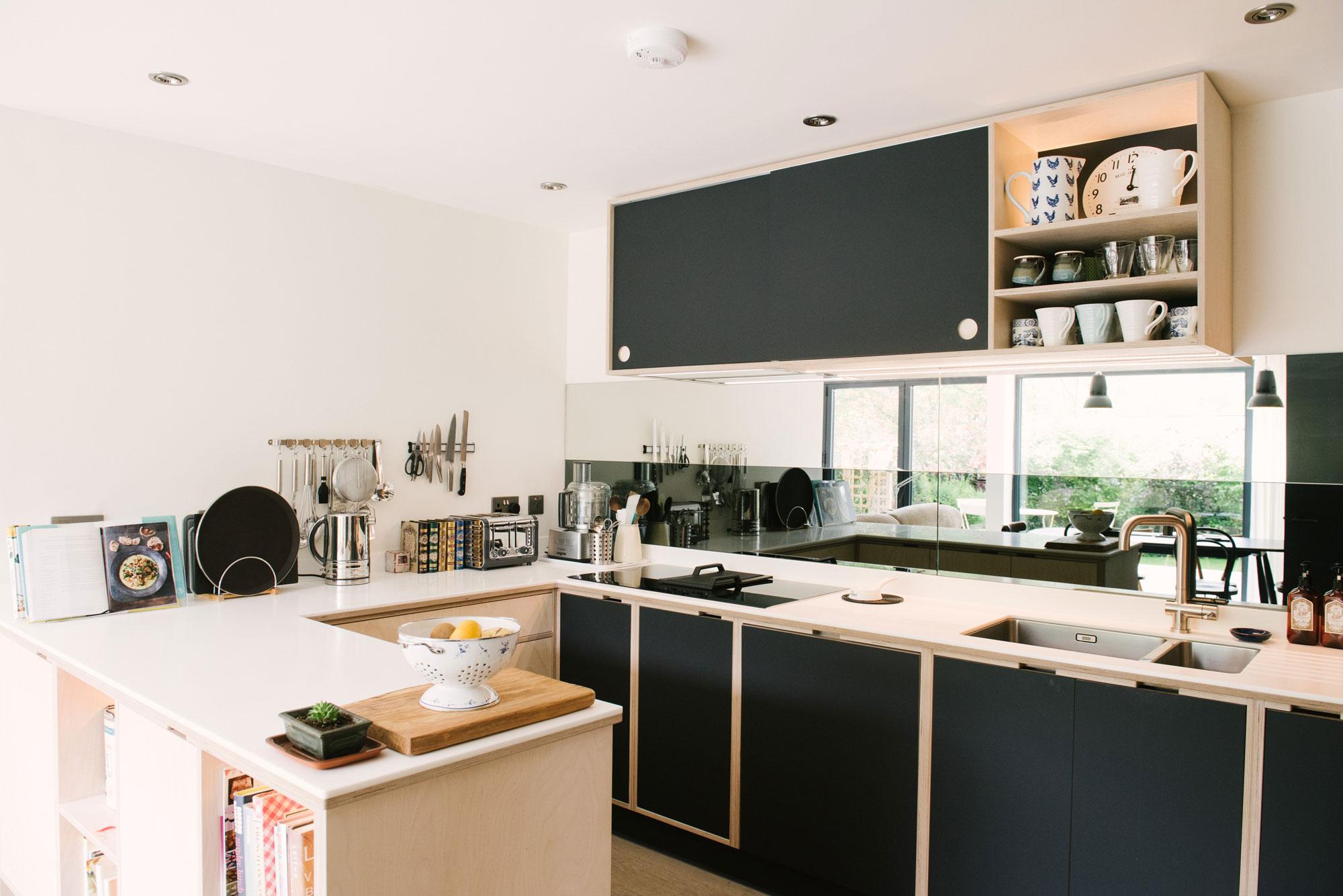 Kitchen with Mirror Splashback