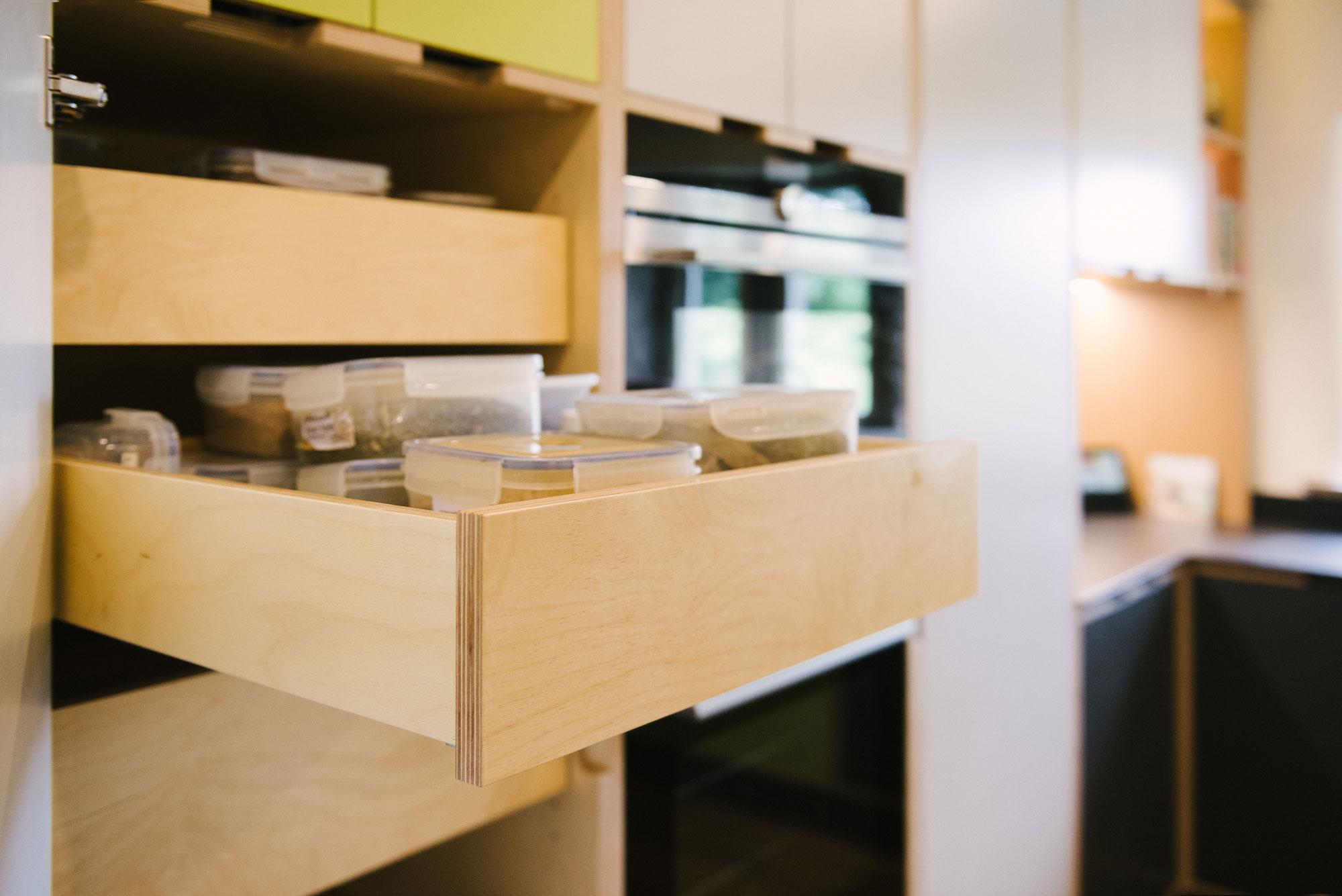 Plywood drawers