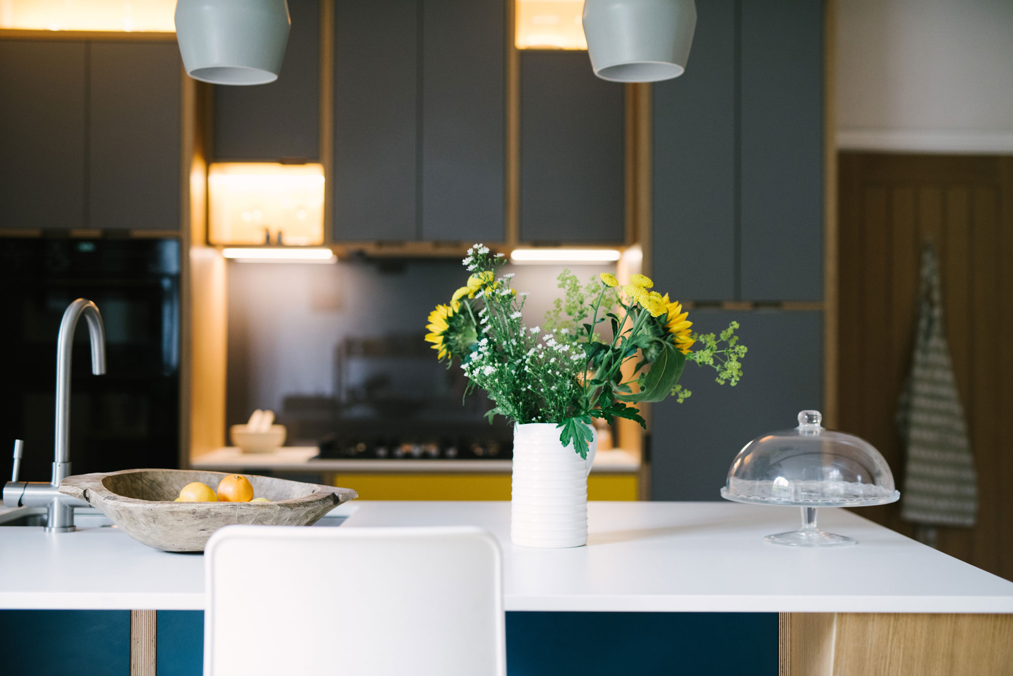 Grey Plywood Kitchen
