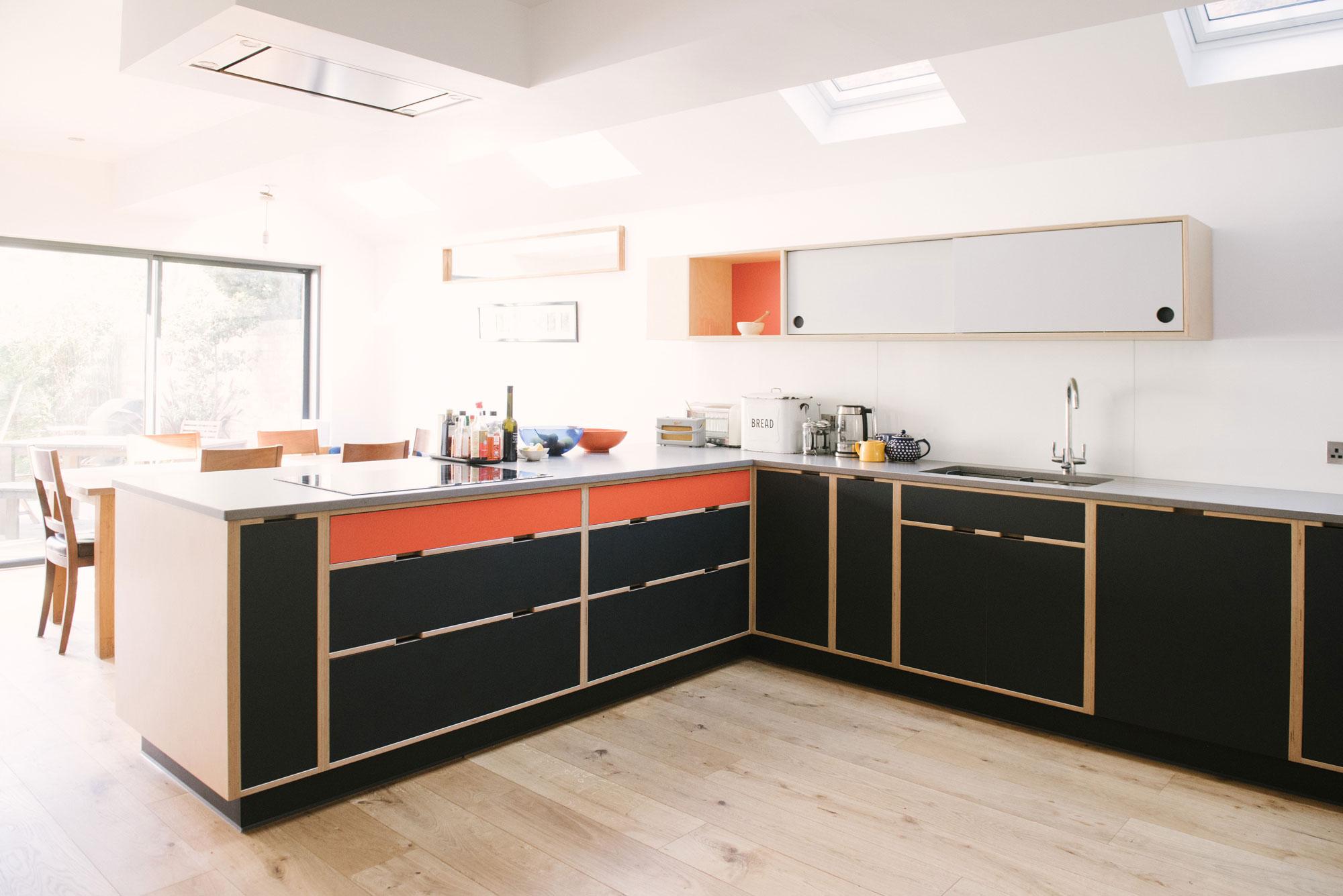 Black and Orange Kitchen