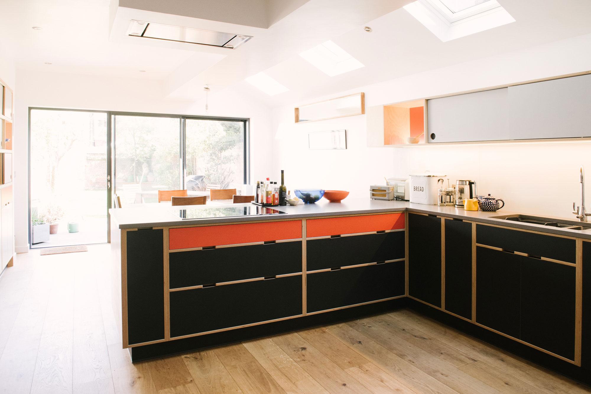 Black & Orange Kitchen