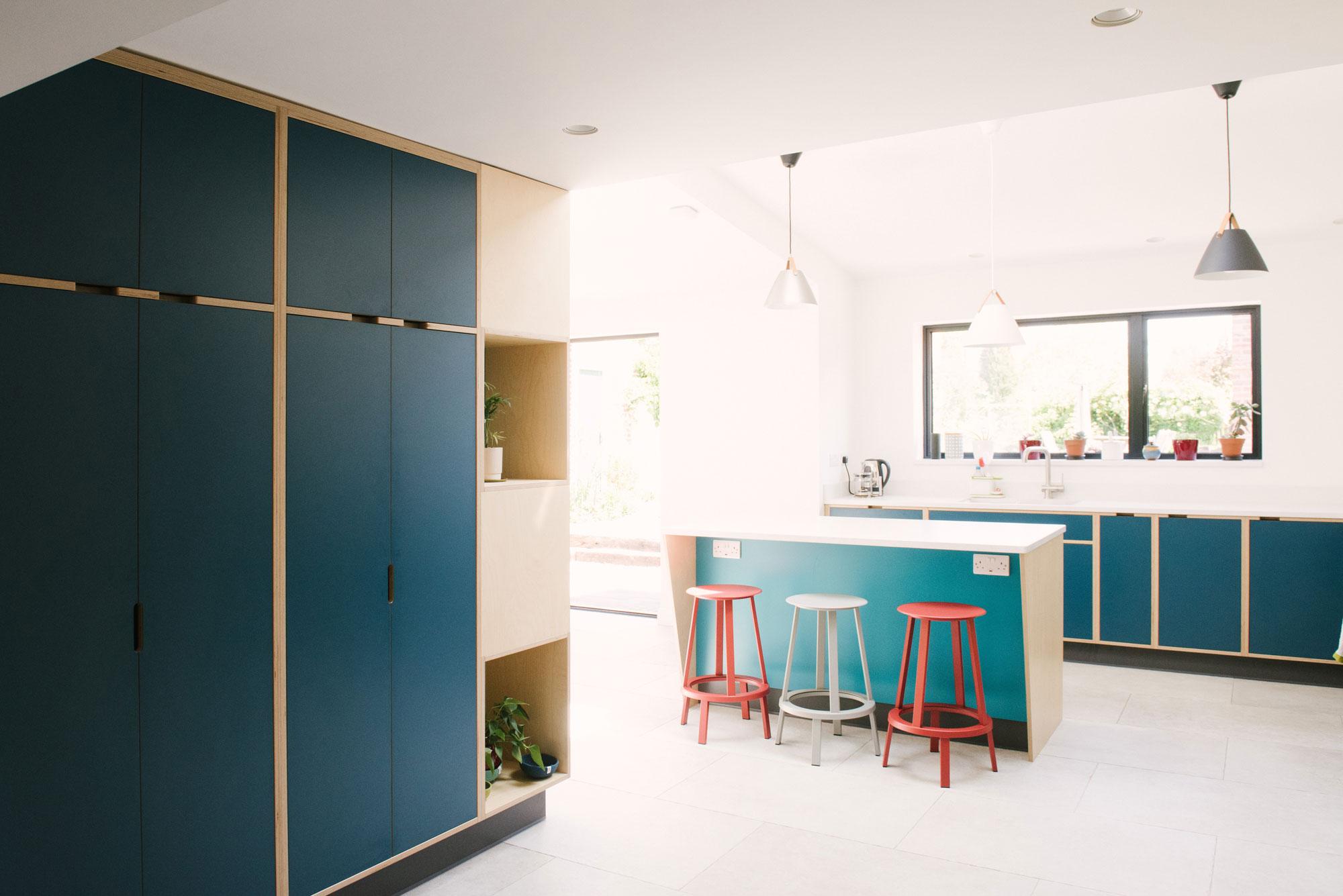 Modern Blue Kitchen