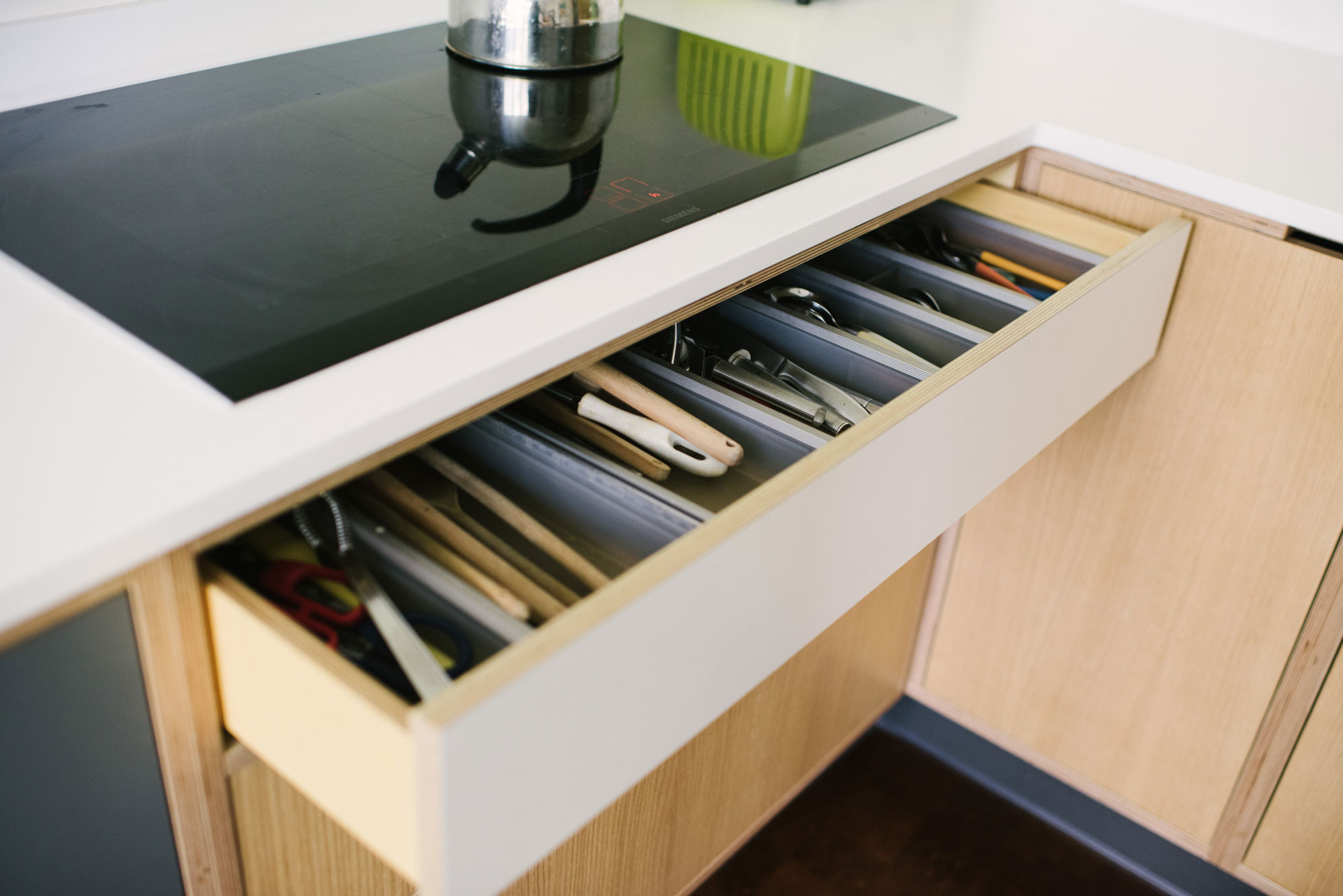 Plywood Cutlery Drawer
