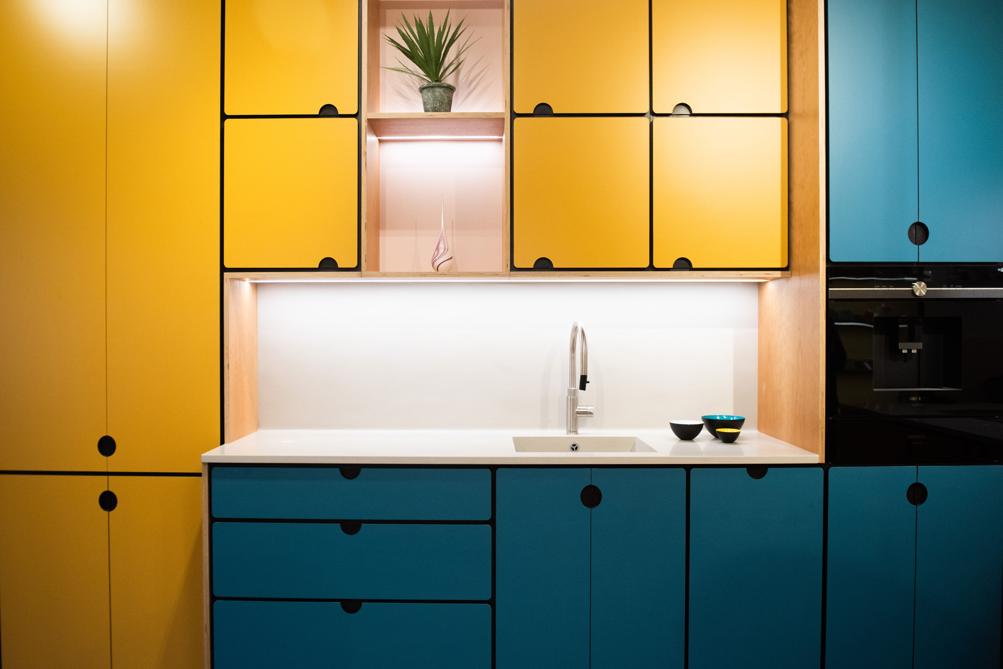 Valchromat Kitchen Yellow and Blue