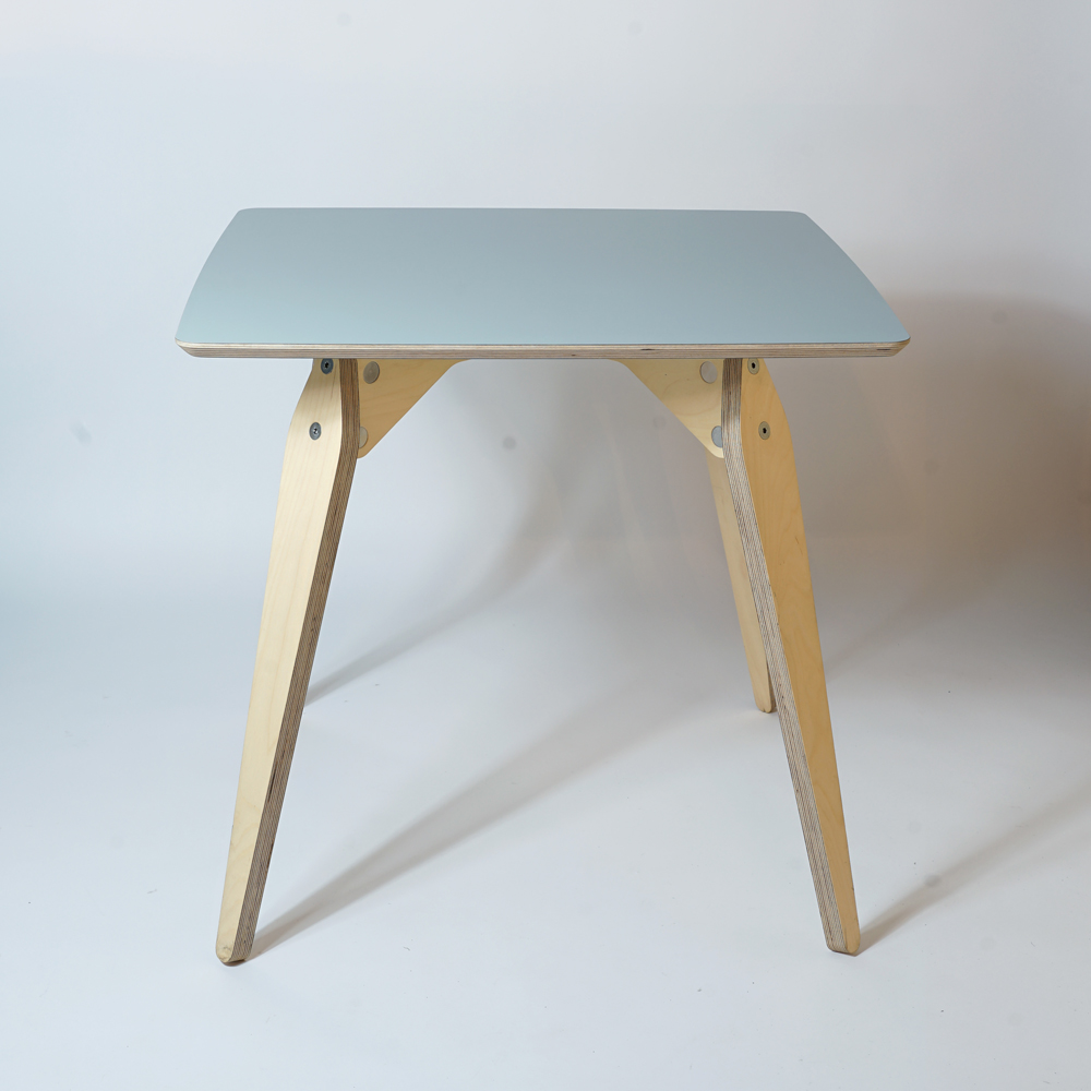 grey plywood dining table