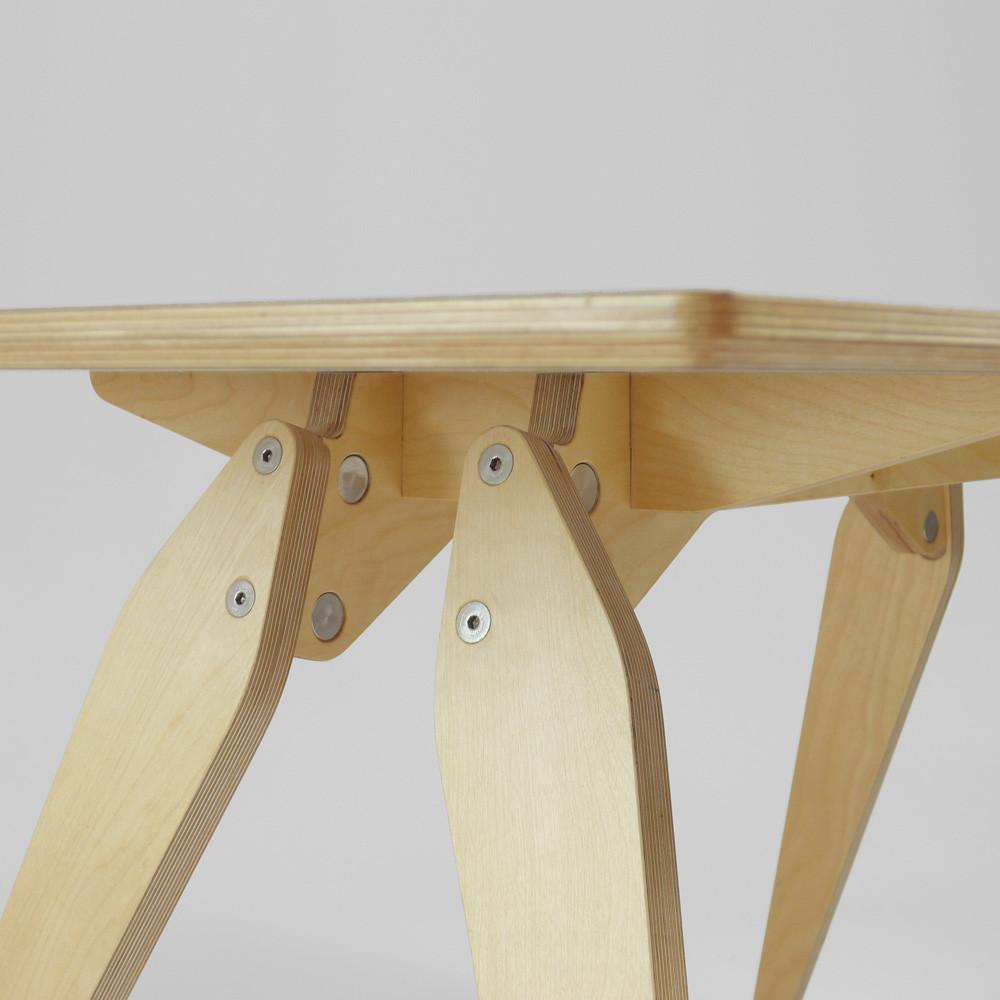 made in the UK plywood dining table