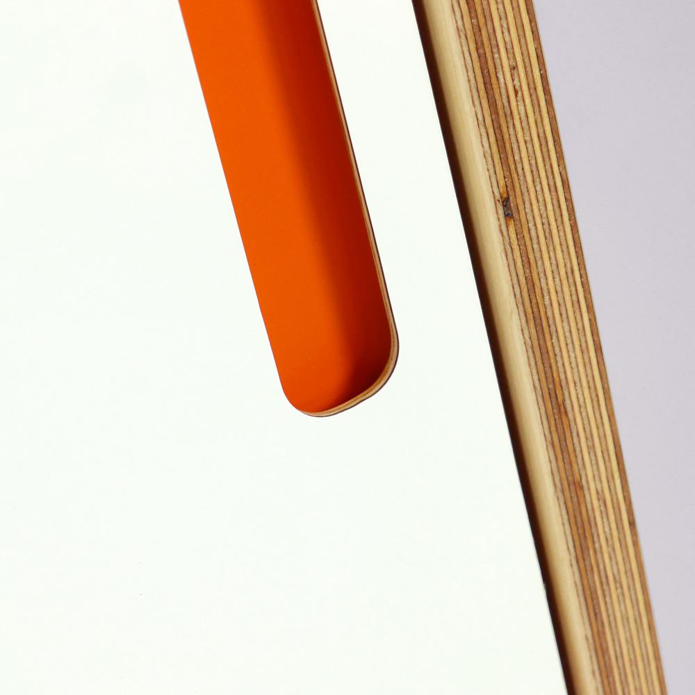 plywood wardrobe handle detail