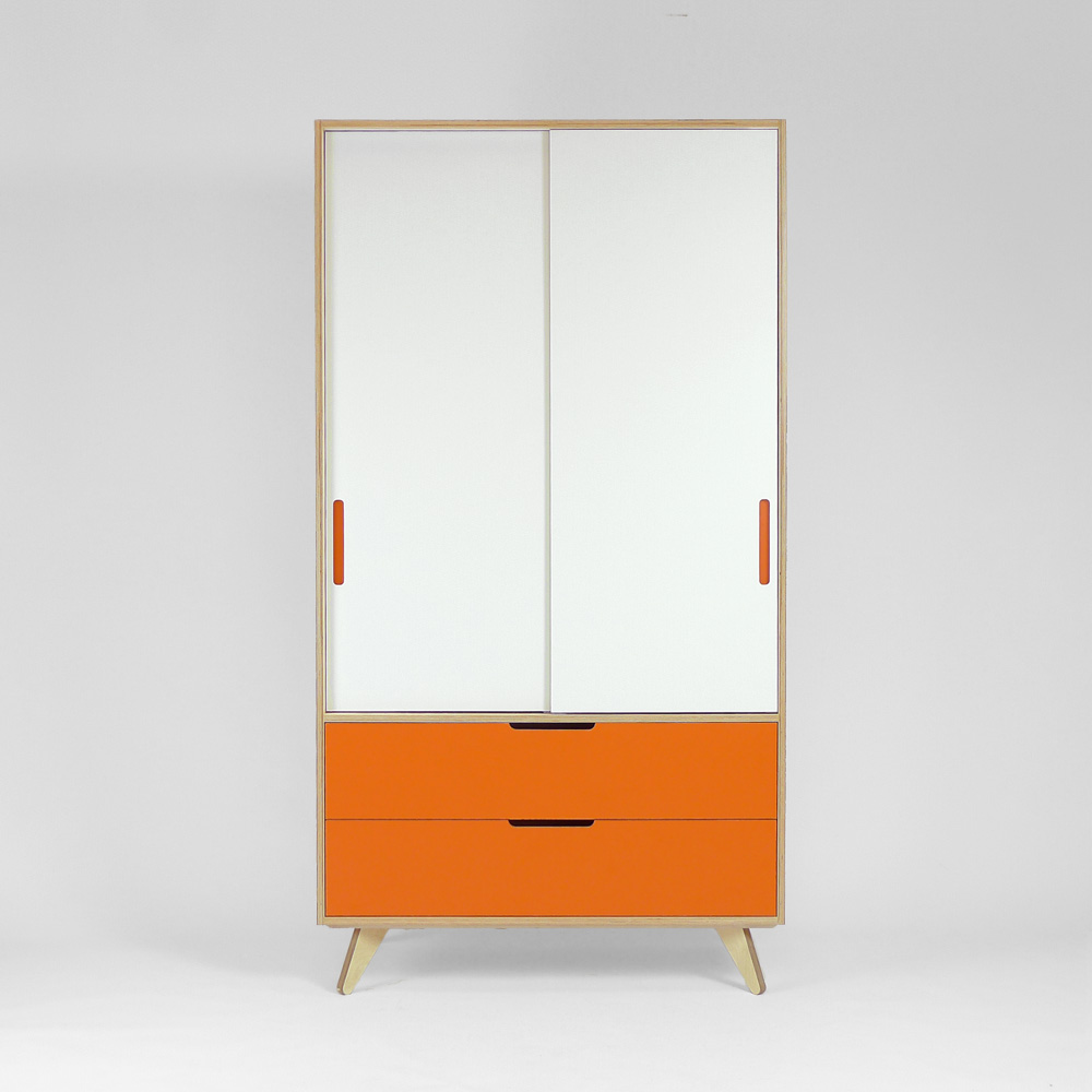 freestanding plywood wardrobe front