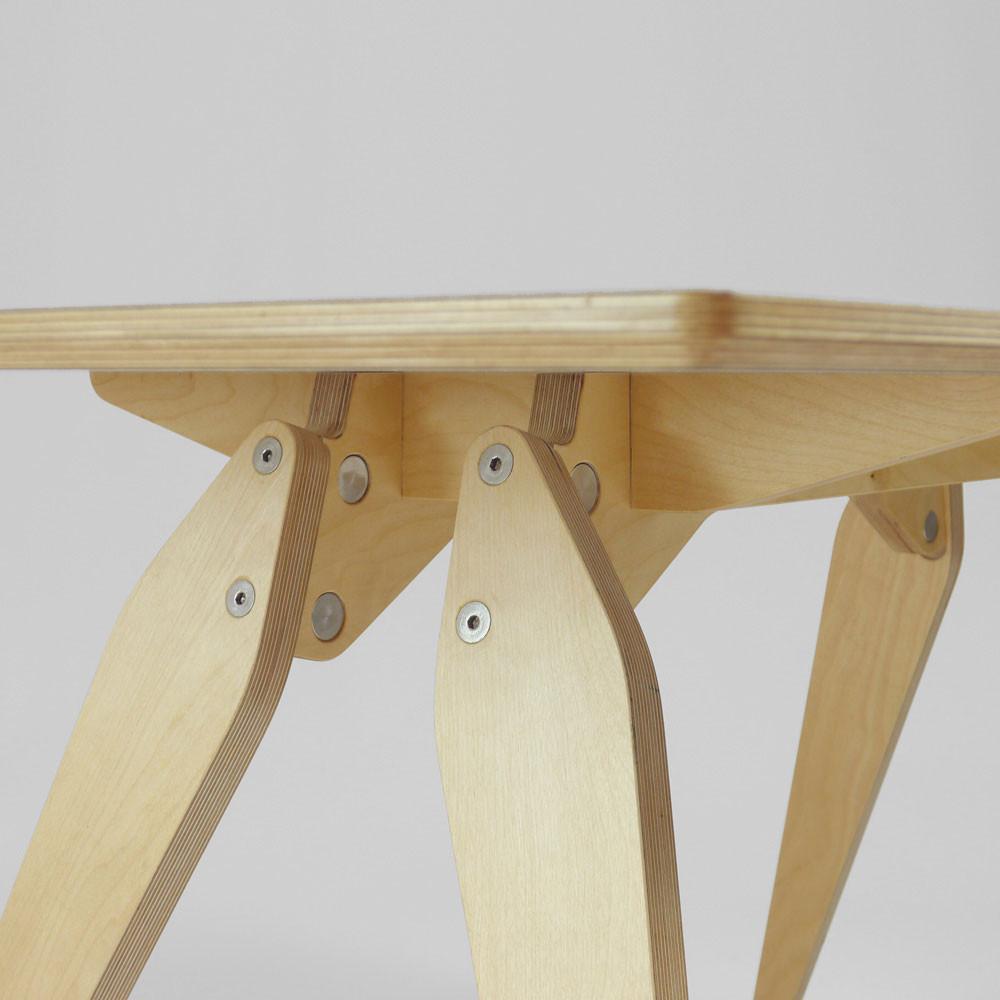 plywood desk detail