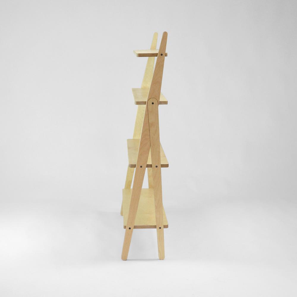 plywood shelving unit side