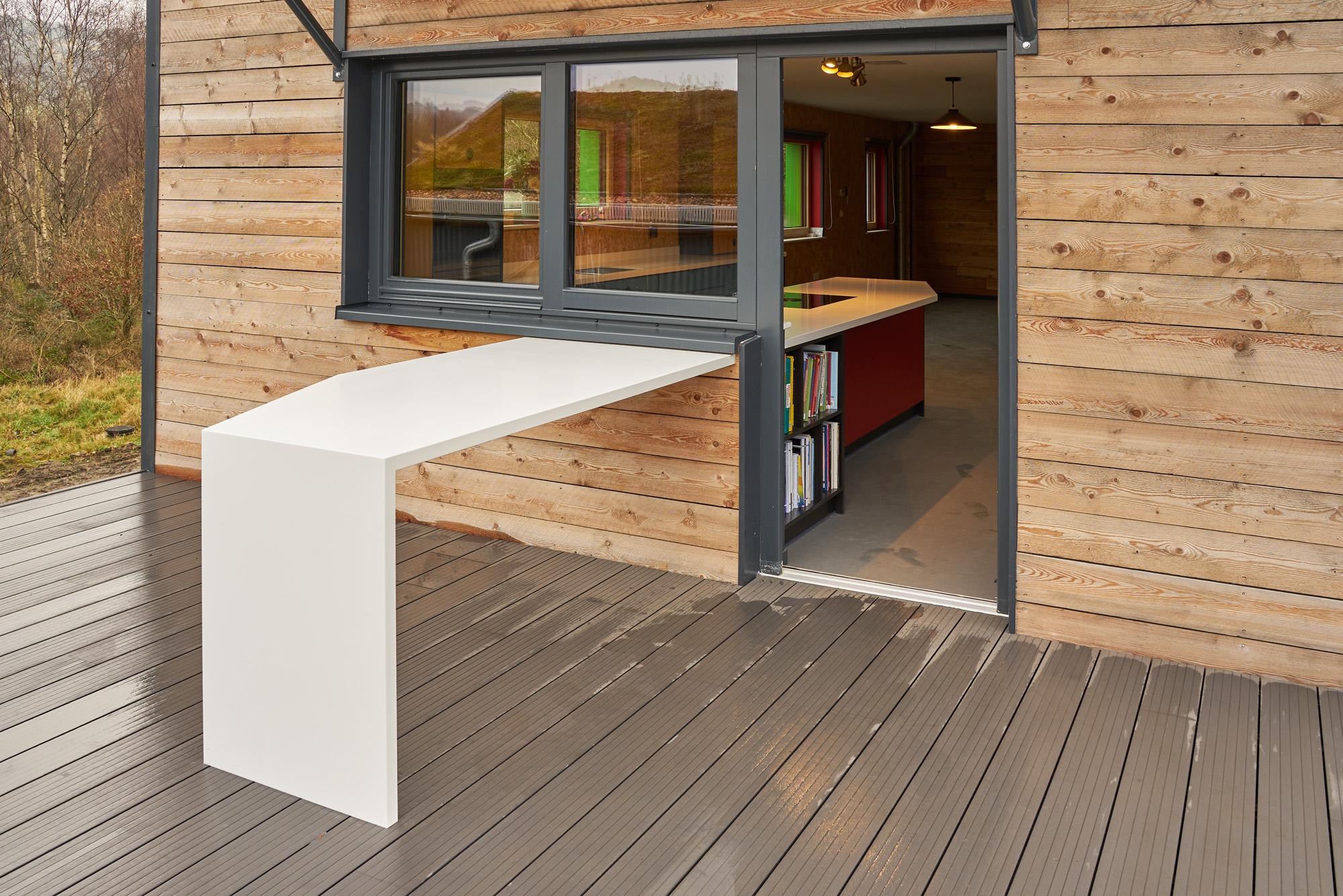 Corian Worktops outdoors