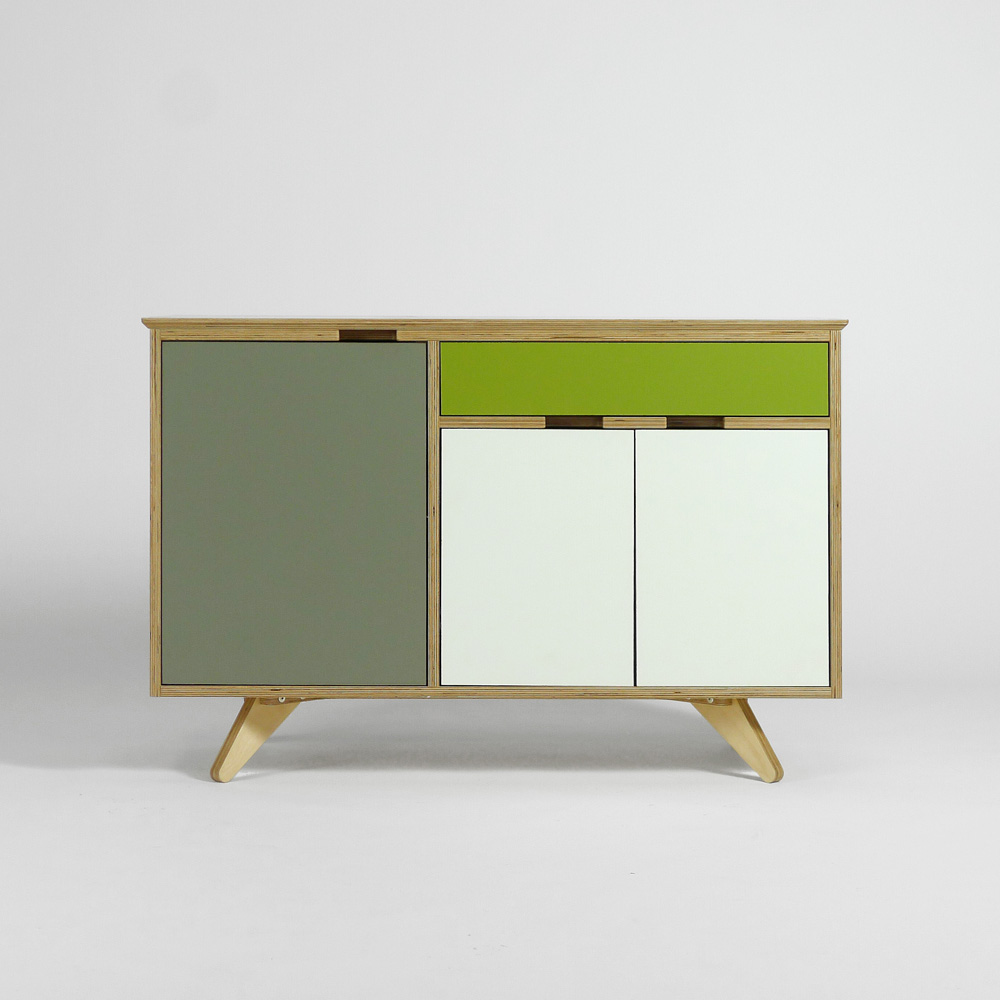 plywood sideboard - front