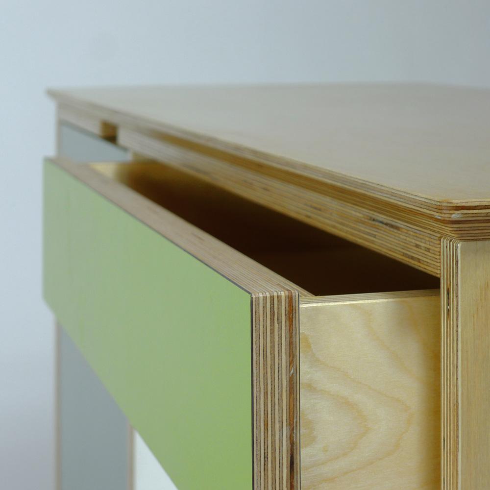 plywood sideboard - drawer detail
