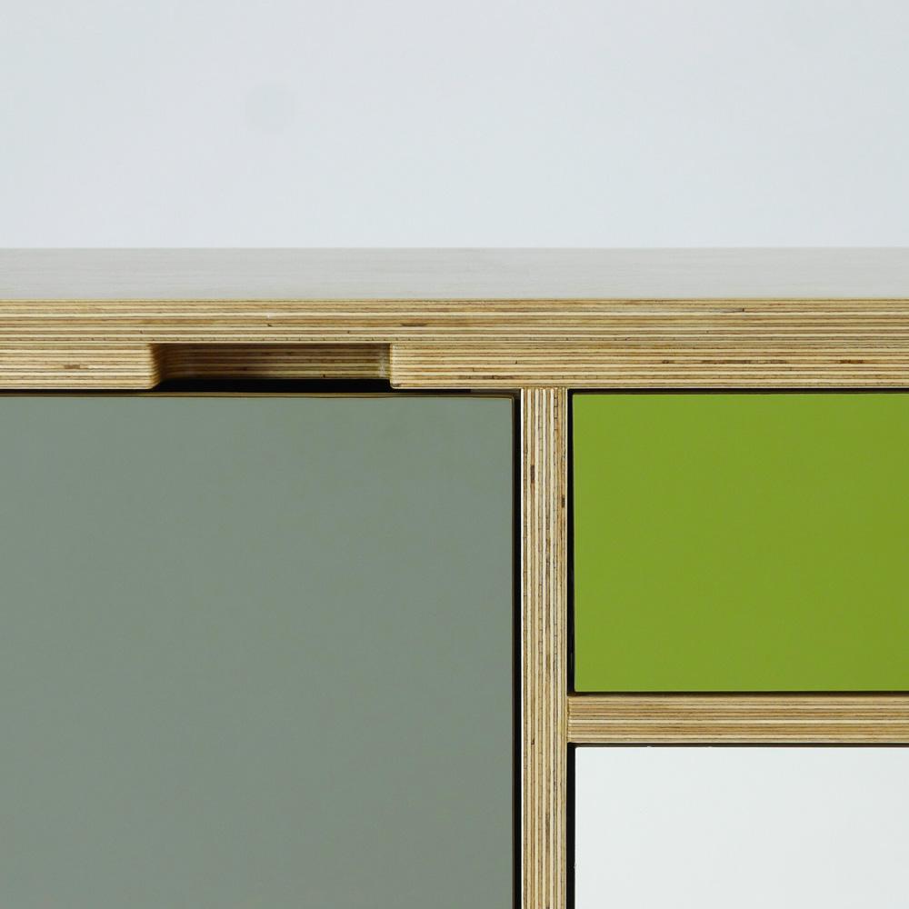 plywood sideboard - detail