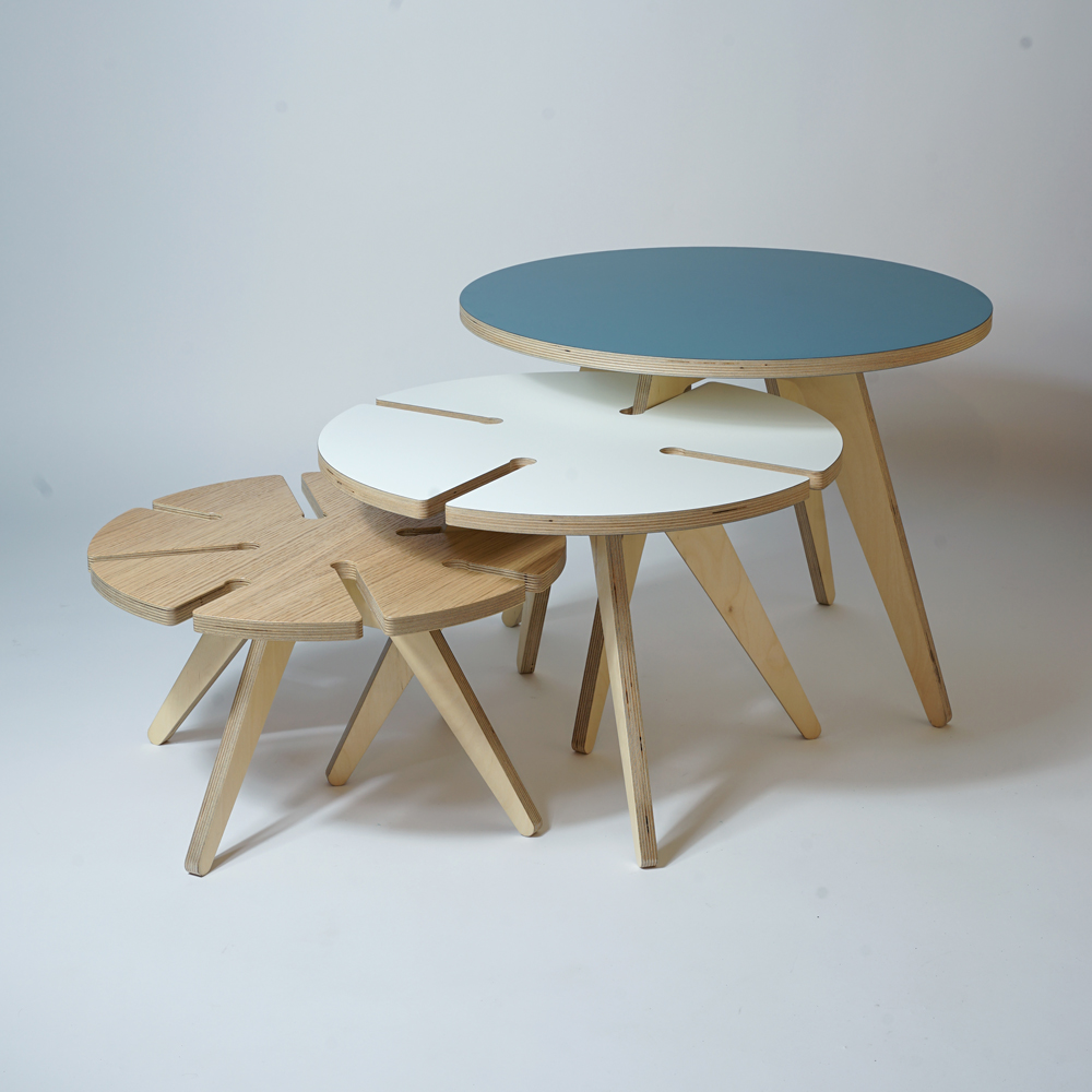 plywood nesting tables