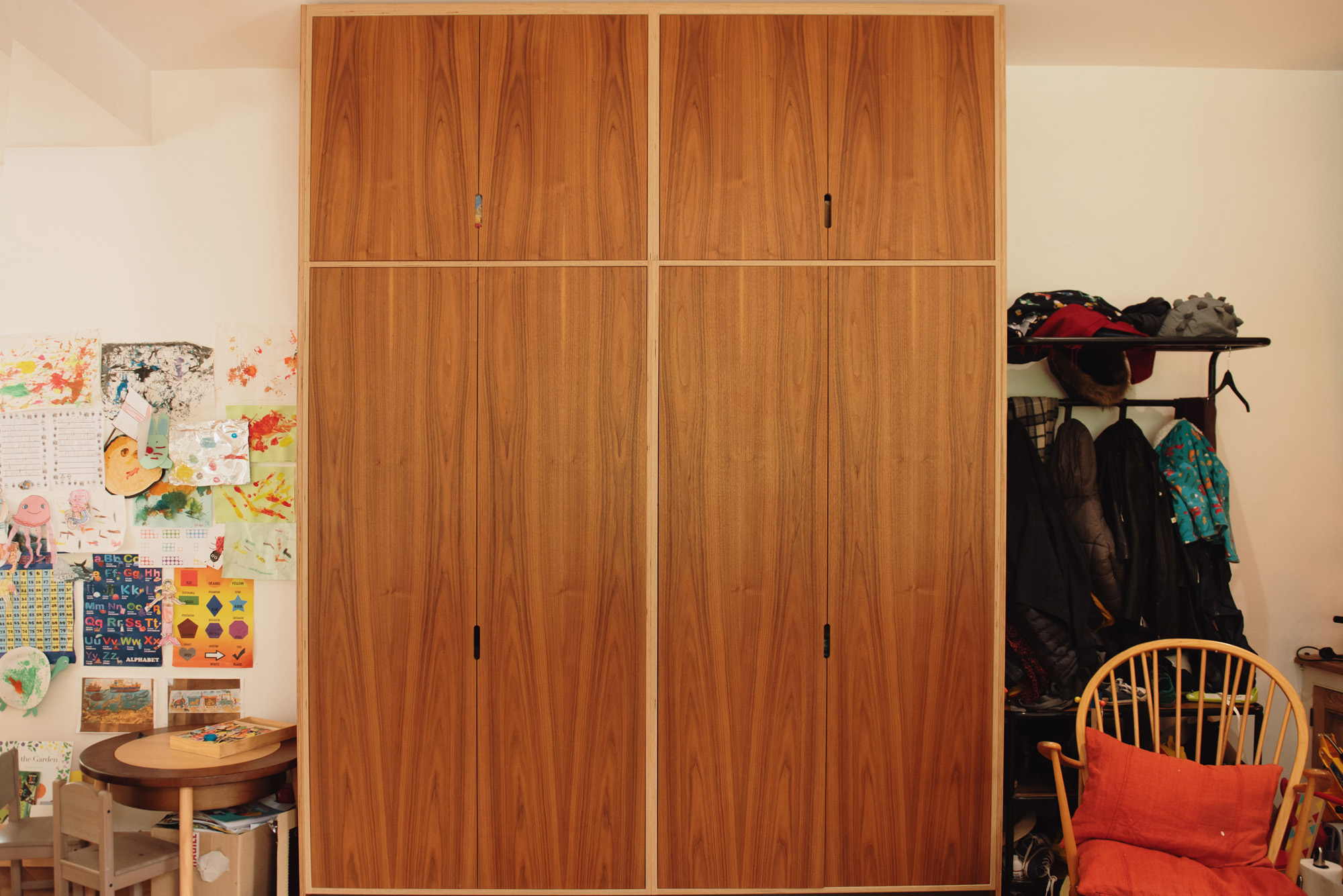 Wall to ceiling storage cabinets