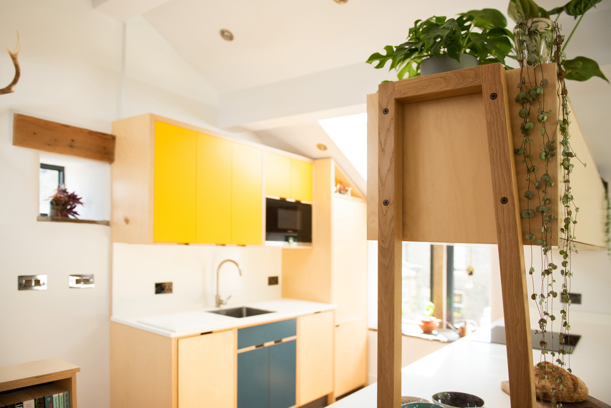 bespoke kitchen units in converted barn